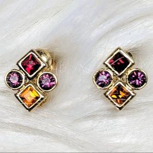 Jewelry - Tiny Jewel Tone Studs